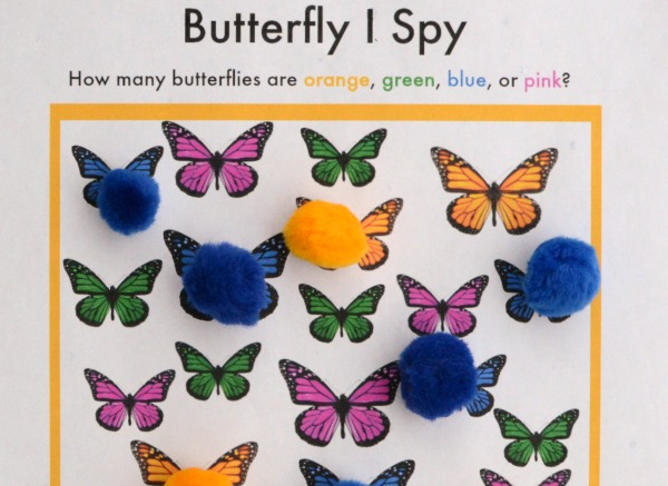 Butterfly I Spy printable game