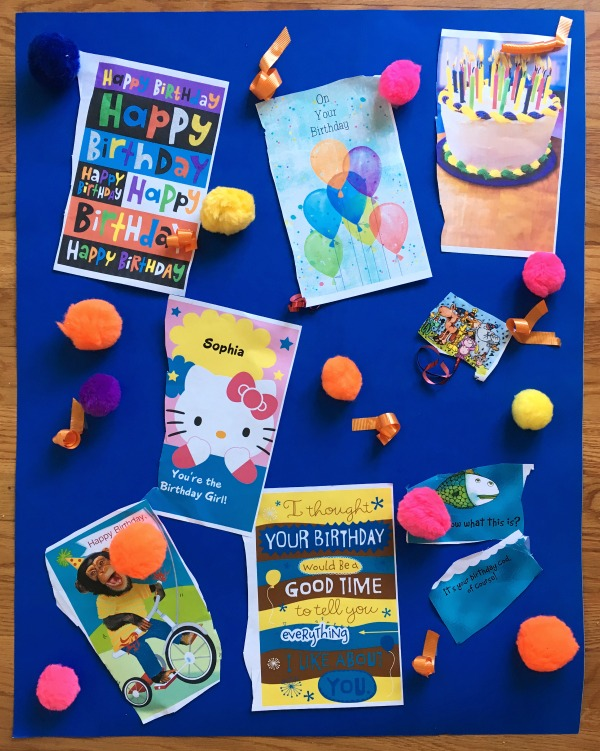 Make a HUGE birthday card for an extra special birthday surprise!