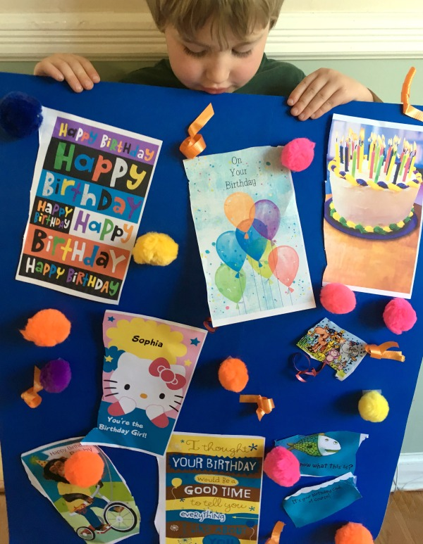 When just one birthday card isnt enough fun birthday activity make a huge birthday card bookmarktalkfo Gallery