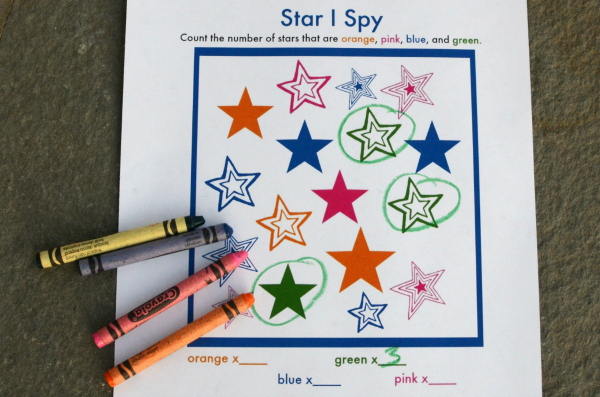 I Spy printable games