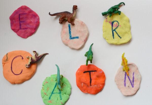 pre-writing dinosaur fun - dinosaur letter stomp!