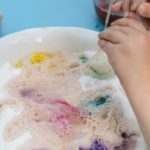 Colorful science project - make a rainbow fizz! Kids will love the mini eruptions of color!