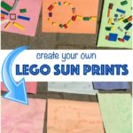 LEGO Summer fun idea: Create LEGO Sun Prints!