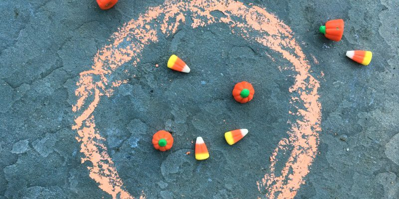 Use Halloween candy in this subtraction game!