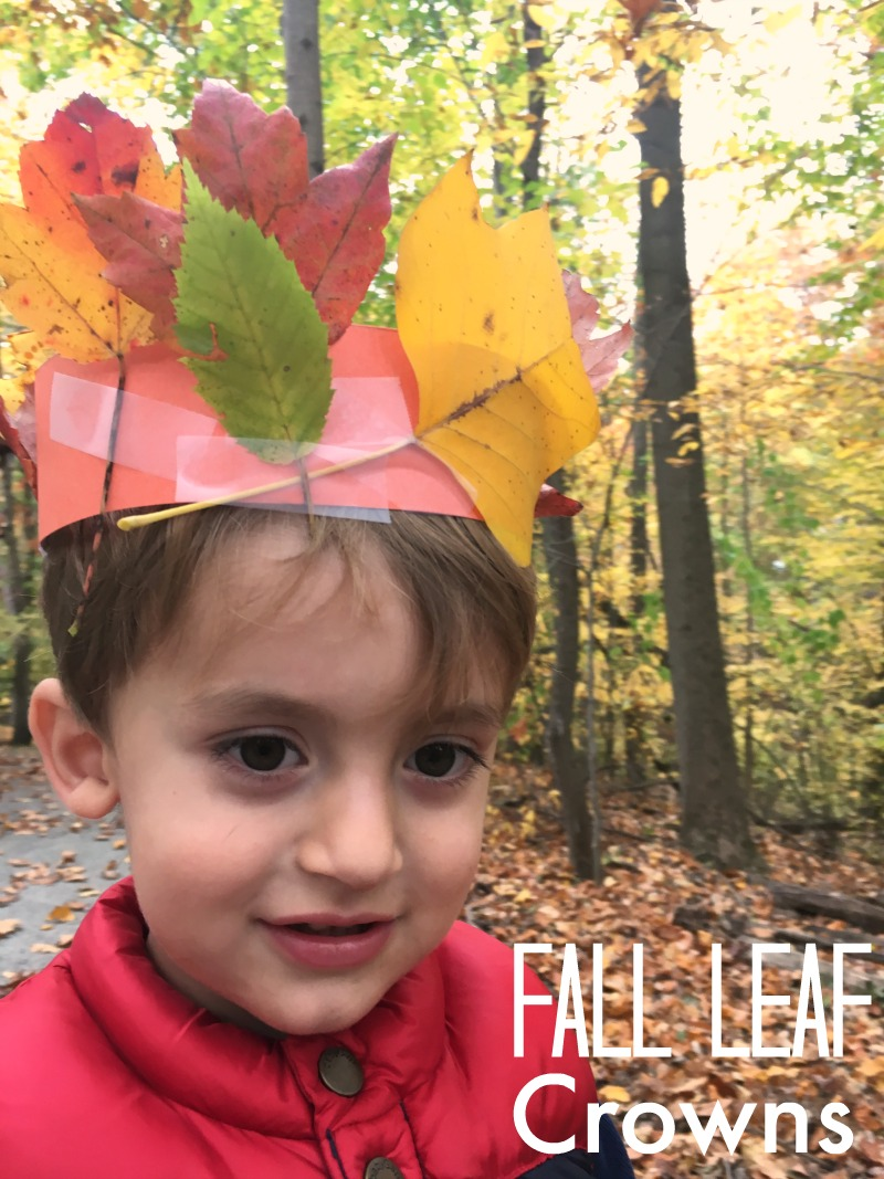 Leaf crowns - simple fall craft kids will love!