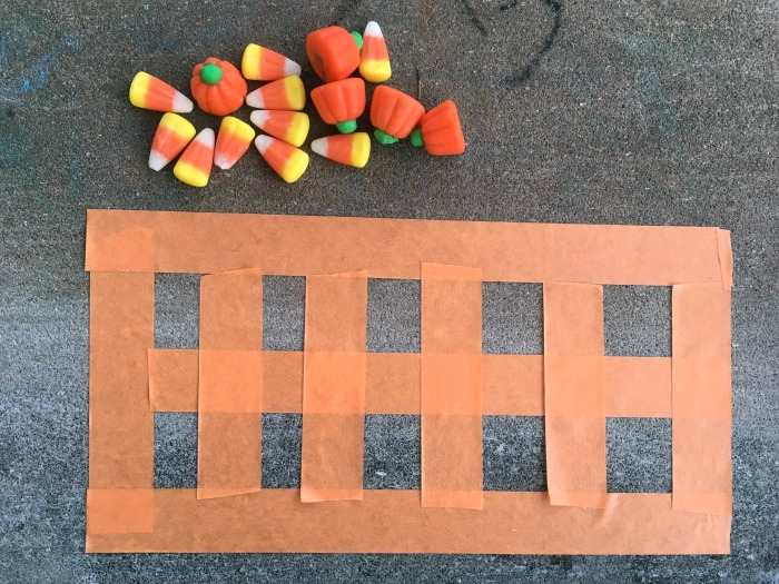 Use candy corn as a manipulative in this fun Halloween math idea- make candy corn ten frames for addition and subtraction practice.