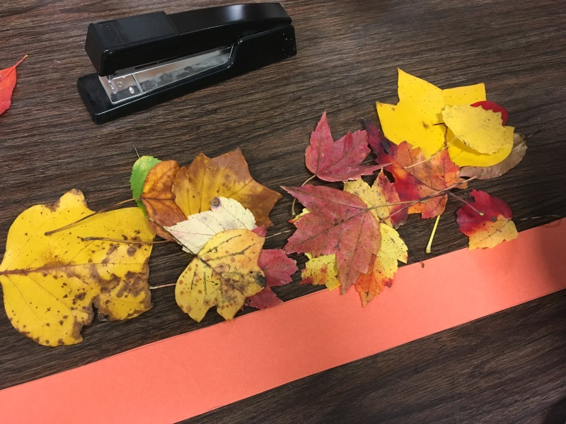 Best fall craft ever! Try making a fall leaf crown. Fun activity for the class or home!
