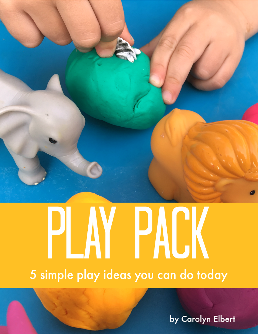 Subscribe for simple play ideas and get this play pack - 5 simple play ideas & 4 BONUS fine motor play ideas!