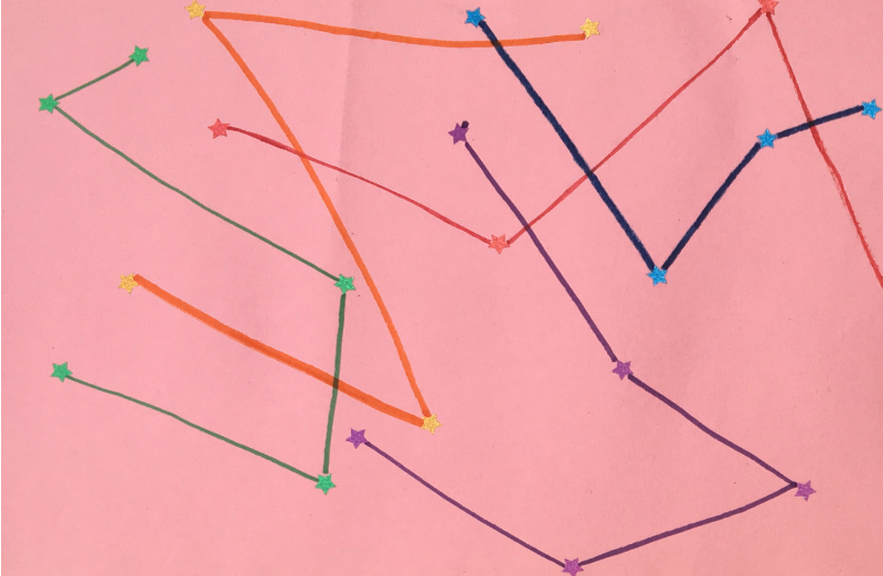 Draw your own constellations - fine motor FUN!