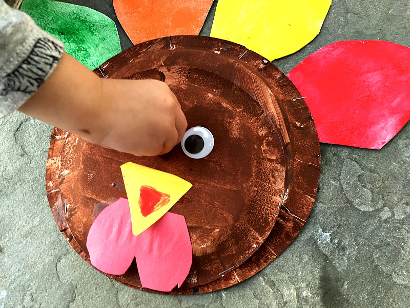 Turkey Paper Plate craft
