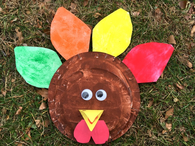 simple paper plate turkey - perfect for preschoolers!